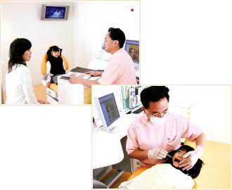 治療方針、料金の説明 口腔内診察